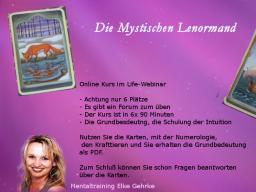 Webinar: Sonderpreis !!Karten legen lernen, die Grundbedeutung