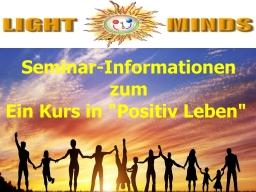 Webinar: Kurs in Positiv Leben - Seminarinformationen