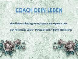 Webinar: Coach Dein Leben - Ressourcen erkennen und fördern