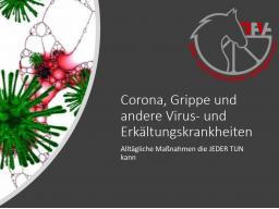 Webinar: Corona - alltägliche Maßnahmen die jeder tun kann