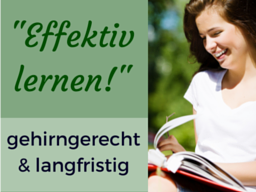 """Webinar: """"Effektiv lernen!"""" - gehirngerecht & langfristig"""