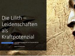 Webinar: Die Lilith - Leidenschaften als Kraftpotenzial