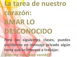 Webinar: Clase Online gratis: AMAR LO DESCONOCIDO