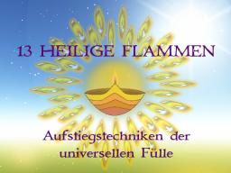 Webinar: 13 HEILIGE FLAMMEN® III- Trainer: Saint von Lux