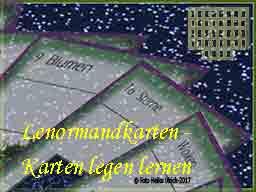 Webinar: Lenormandkarten legen lernen (2. Aufbaukurs)