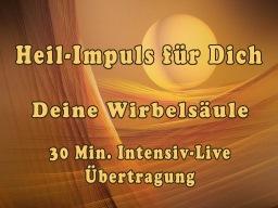 Webinar: Heil-Impuls für Dich   WIRBELSÄULE    Gruppensitzung