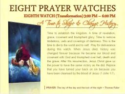 Webinar: DIE 8. SPIRITUELLE ZEITWACHE - DEKRETE, GEBETE, INVOKATIONEN GEZIELT EINSETZEN