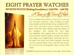 Webinar: SIEBTE WACHE    EINE ZEIT ZUM EINGEBEN DER GEHEIMNISSE  12-15 Uhr    FUNDAMENTE SCHÜTTELN