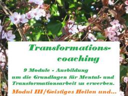 Webinar: Ausbildung - Mental- und Transformationscoach zur Blockadenlösung-  /Modul III Geistiges Heilen und die Kraft der Gedanken