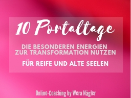 Webinar: Portaltage-Gruppe: 10 Portaltage [Frühjahr 2021]