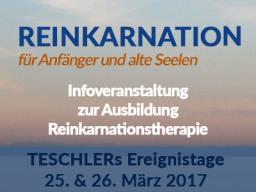 Webinar: Ereignistage: Infoveranstaltung zur Ausbildung: Reinkarnationstherapie