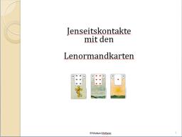 Webinar: Jenseitskontakte mit den Lenormandkarten