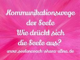 Webinar: Kommunikationswege der Seele? Wie drückt sich deine Seele aus?