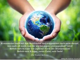 Webinar: Friedensmeditation mit Botschaften des Lichts und Vywamus+Wächter der Erde