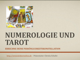 Webinar: Info-Seminar: Errechne Deine Persönlichkeitskarte vom Tarot