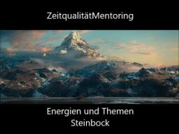 """Webinar: ZeitqualitätMentoring: """"Steinbock"""""""
