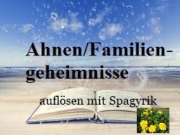 Webinar: Spagyrische Mischung : Auflösung alter Ahnen/Familiengeschichten