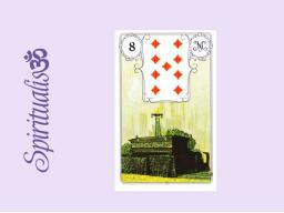 Webinar: ૐ  8 DER SARG ૐ     Themenreihe:  Meine spirituelle Reise durch das Lenormand- Karten-Deck!