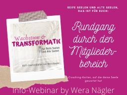 Webinar: Infowebinar: Rundgang durch den Mitgliederbereich der Coachingkarten