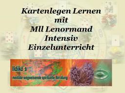 Webinar: ♠ 1,5 Stunde EINZELUNTERRICHT Intensiv Kartenlegen-lernen mit der Lenormand-Karten