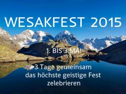 Webinar: WESAKFEST  2015