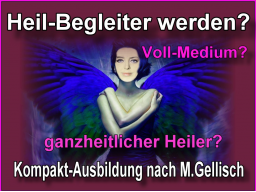 Webinar: medialer Heil-Begleiter werden -15- nach M.Gellisch