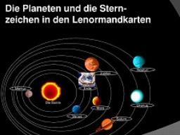 Webinar: Die Planeten und die Sternzeichen in den Lenormandkarten