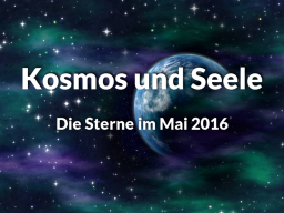 Webinar: Die Sterne im Mai 2016