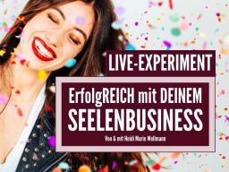 Webinar: Manifestiere ein erfolgreiches Seelenbusiness - LIVE-EXPERIMENT