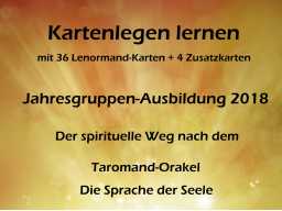 Webinar: Kartenlegen lernen Info-Veranstaltung: Der spirituelle Weg nach dem Taromand-Orakel