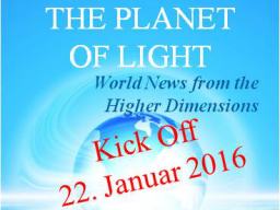 "Webinar: Neu / New: ""World News from the Higher Dimensions"""