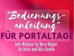 """Webinar: Infowebinar: """"Bedienungsanleitung"""" für die Portaltage"""