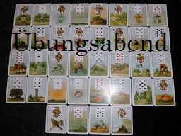 Webinar: ÜBUNGSABEND Kartenlegen Lenormand  Große Blatt/Tafel
