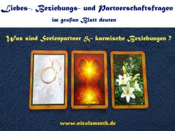 Webinar: Liebe, Seelenpartner & Karma - Beziehungs- & Partnerschaftsfragen im großen Blatt deuten - Lehrvideo inkl. Datei