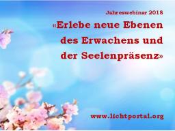 Webinar: Jahreswebinar 2018