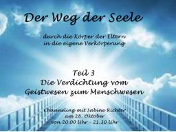 Webinar: Die Verdichtung vom Geistwesen zum Menschwesen - öffentliches Channeling - Sabine Richter