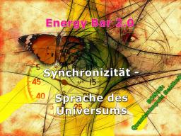 Webinar: Energy Bar 2.0 - Synchronizität:Sprache des Universums + BONUS: Quantenimpuls Geldheilung