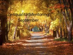 Webinar: ZeitqualitätMentoring: September