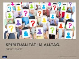 Webinar: Spiritualität IM Alltag. Geht das?