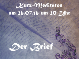 Webinar: Kurz-Meditation - Dein persönlicher Brief