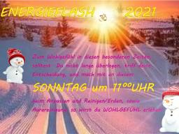 """Webinar: Sonntagmorgen  11°° Uhr - """"ERWEITERTER"""" Energie - FLASH 2021"""