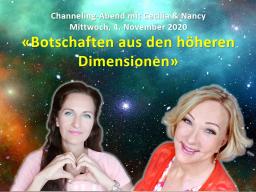 Webinar: Botschaften aus den höheren Dimensionen: Channeling-Abend mit Cecilia & Nancy