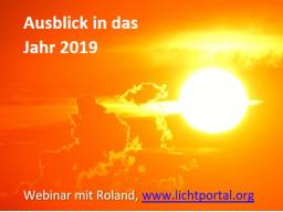 Webinar: Die Energien für das Jahr 2019