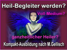 Webinar: medialer Heil-Begleiter werden -30- nach M.Gellisch