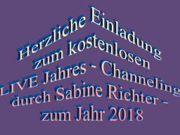 Webinar: SABINE RICHTER - JAHRES CHANNELING 2018 - LIVE - kostenlos