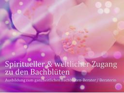 Webinar: Teil 5 von 8 ❧ Ausbildung zur/zum ganzheitl. Bachblüten-BeraterIn, inkl. Flower-Reiki, Abschlussprüfung, Skripte, Aufzeichnungen
