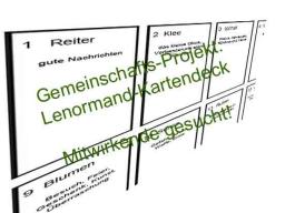 Webinar: Gemeinschafts-Projekt: Gestaltung eines Lenormand-Kartendecks
