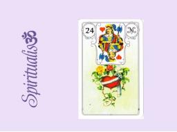 Webinar: ૐ  24 DAS HERZ  ૐ    Themenreihe:  Meine spirituelle Reise durch das Lenormand- Karten-Deck!
