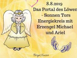 Webinar: 8.8.2019 Das Löwen - Sonnen - Tor Engel - Energie - Lichtkreis