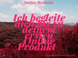 Webinar: Ich begleite dich bis zu deinem ersten Online Produkt